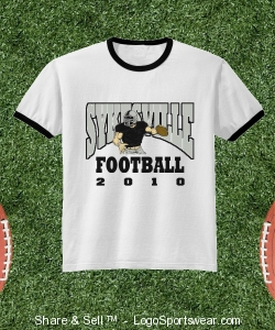 Youth Imprinted 50/50 Ringer T-Shirt Design Zoom
